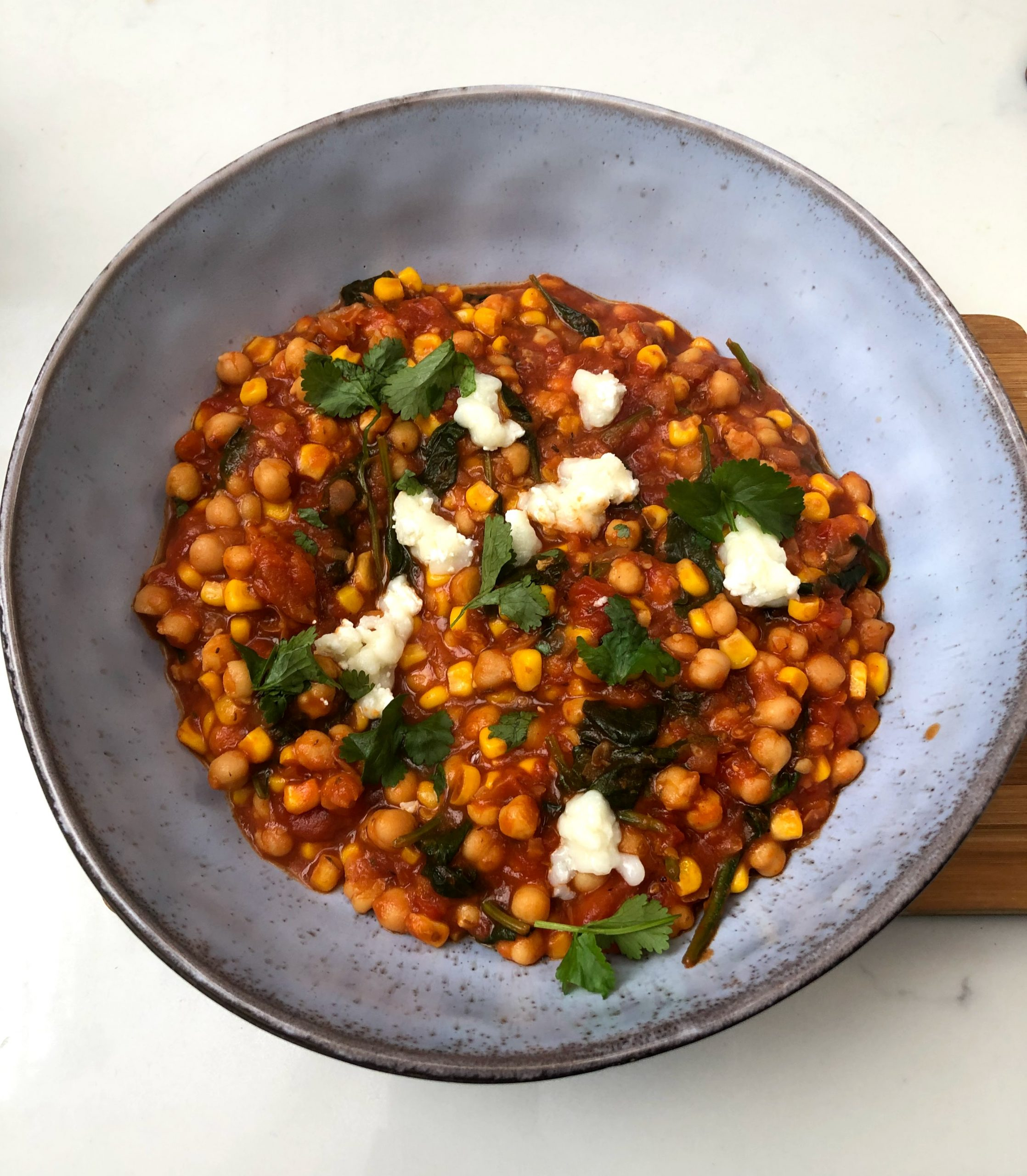 Chickpea and Spinach One Pot