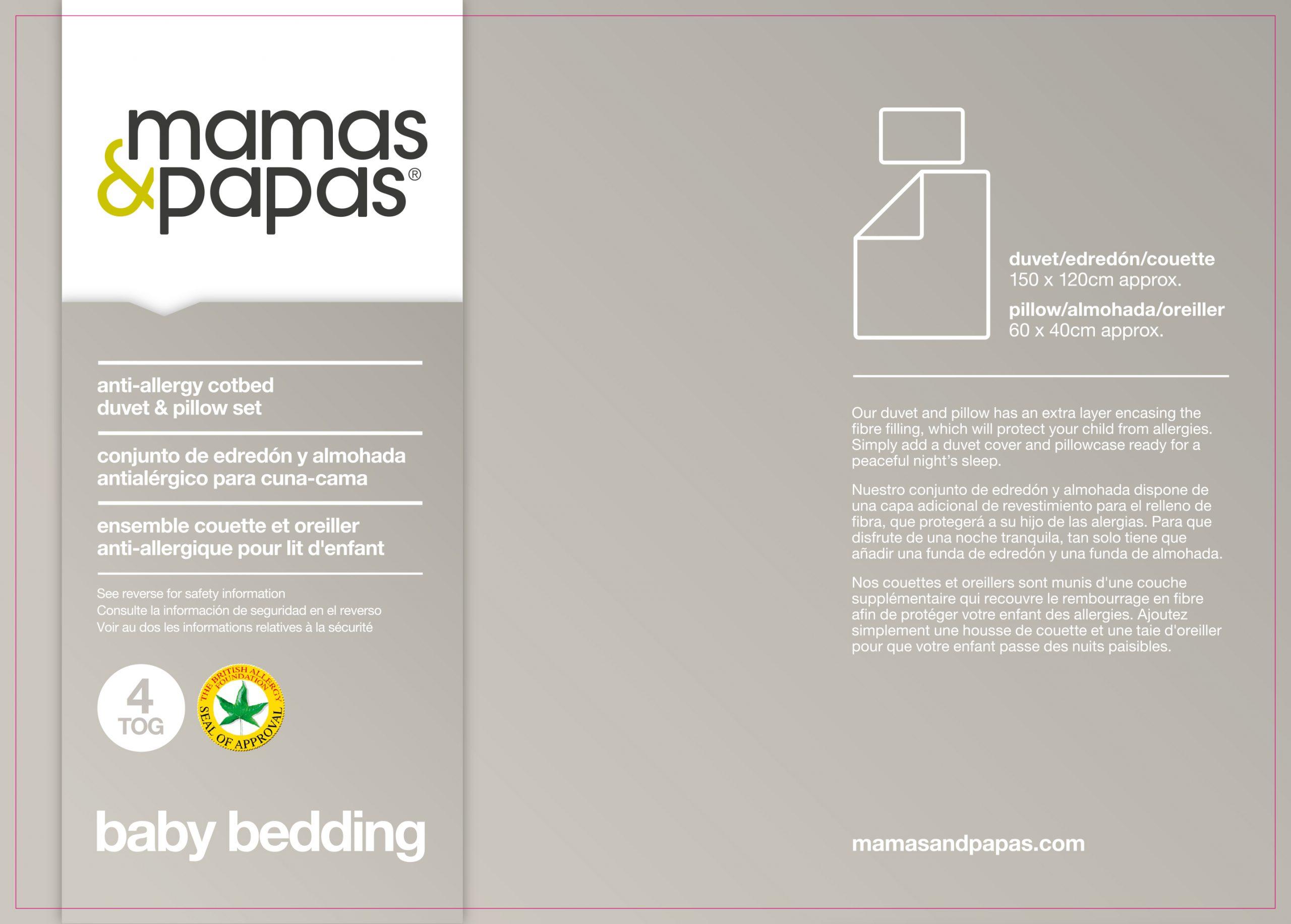 Mamas & Papas Anti-Allergy Bedding Using GS4 Fabric
