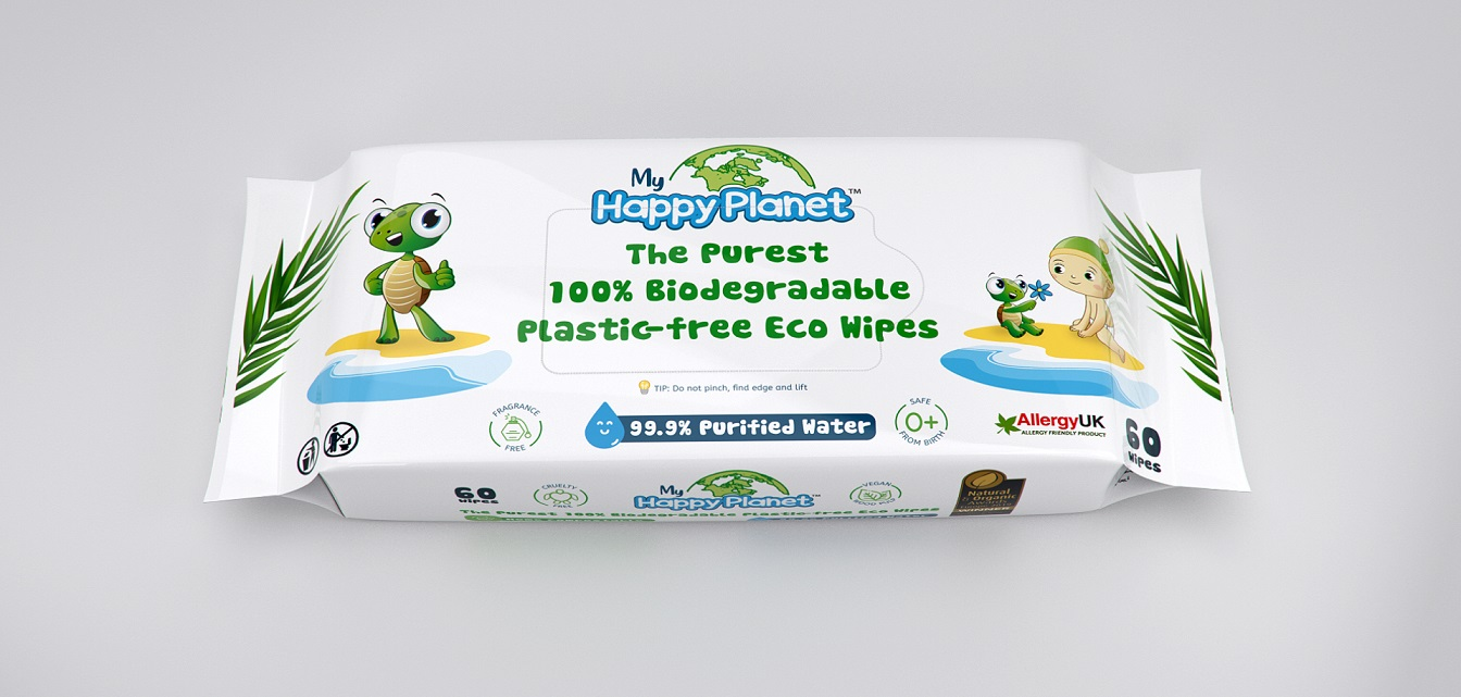 My Happy Planet 100% Biodegradable Eco Wipes